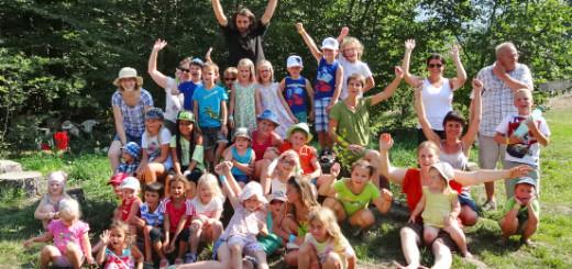 Ferienspiel Gruppenfoto Freude