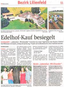 NÖN KW 15-14 Edelhof-Kauf besiegelt