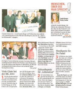NÖN KW 46-14 Zukunftspreis Kurzbericht