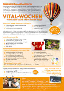 Vital-Wochen von TIERISCH GSUND und Dr. Sandra Berger